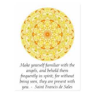 Sanktt Francis de Sale CITERING om änglar Vykort