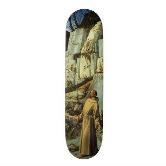 Sanktt Francis i öknen av Giovanni Bellini Old School Skateboard Bräda 21,6 Cm