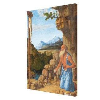 Sanktt Jerome i vildmarken, C. 1500-05 Canvastryck