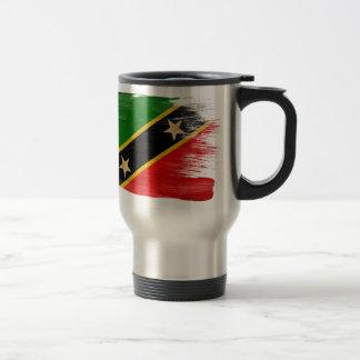 Sanktt Kitts Nevis sjunker Rostfritt Stål Resemugg