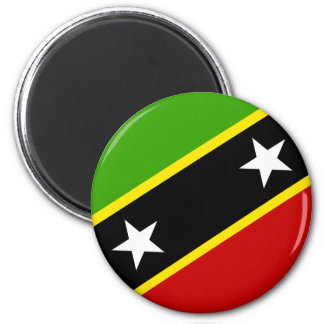 Sanktt Kitts och Nevis flagga Magnet