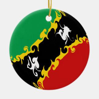 Sanktt Kitts och Nevis Gnarly flagga Julgranskulor
