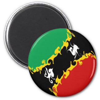 Sanktt Kitts och Nevis Gnarly flagga Kylskåpmagneter