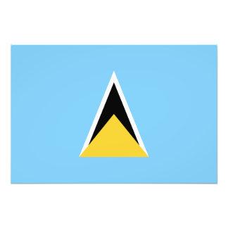Sanktt Lucia flagga Fototryck