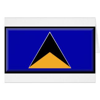 Sanktt Lucia flagga Hälsningskort