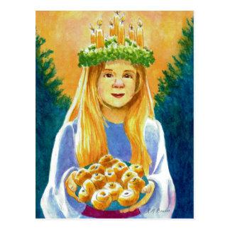 Sanktt Lucia Vykort