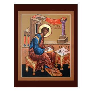 Sanktt Luke Evangelistbönkortet Vykort