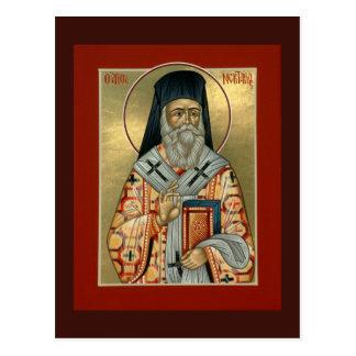 Sanktt Nektarios bönkort Vykort