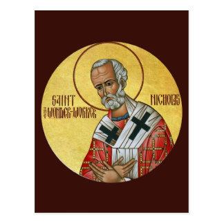 Sanktt Nicholas Under-arbetare bönkortet Vykort