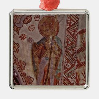 Sanktt Olaf av norgen Silverfärgad Fyrkantigt Julgransprydnad