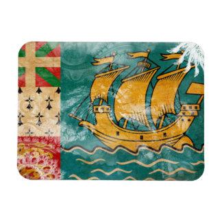 Sanktt Pierre och Miquelon flagga Magnet