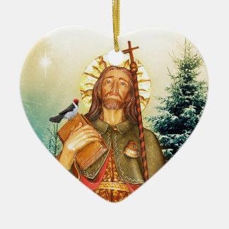Sanktt Rocco eller Sanktt Roch hjärta Julgransprydnad Keramik