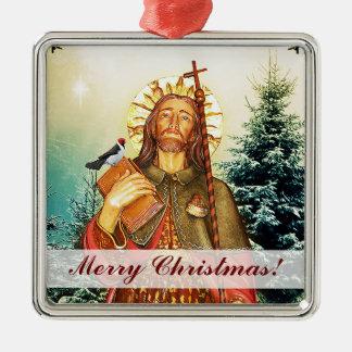 Sanktt Rocco kvadrerar god julprydnaden Julgransprydnad Metall