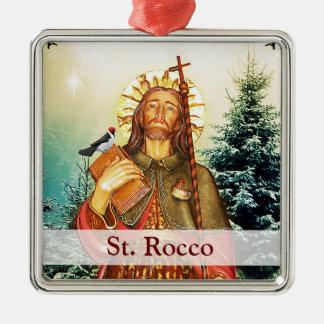 Sanktt Rocco kvadrerar julprydnaden Julgransprydnad Metall