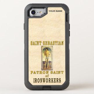 SANKTT SEBASTIAN (skyddshelgonet av järnarbetare) OtterBox Defender iPhone 7 Skal