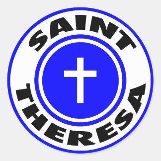 Sanktt Theresa Runt Klistermärke