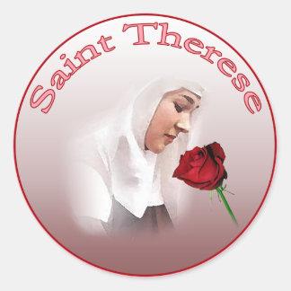 Sanktt Therese klistermärkear Runt Klistermärke