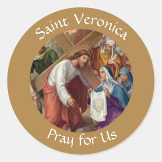 Sanktt Veronica-festmåltiddag Juli 12 Runt Klistermärke