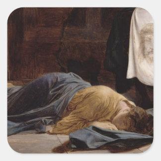 Sanktt Veronica Fyrkantigt Klistermärke