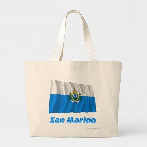 Sanmarinsk vinka flagga med namn kassar