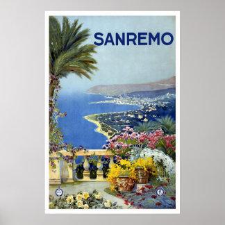 """""""Sanremo, italien"""" vintage resoraffisch Poster"""