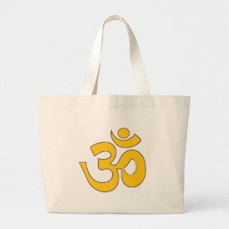 sanskrit mantra för guld- om-aum, symbol, Shape av Jumbo Tygkasse