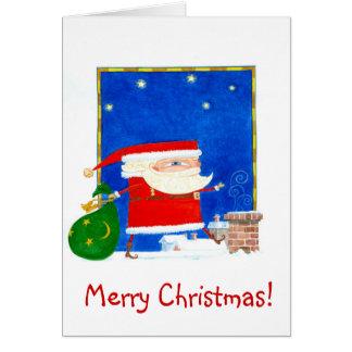 Sant Claus julkort Hälsningskort
