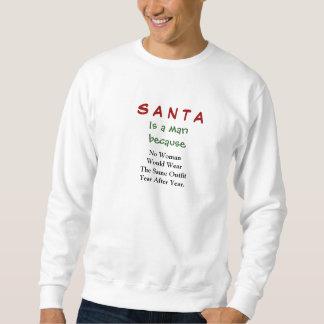 Santa är en man lång ärmad tröja