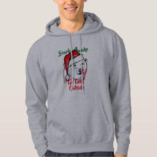 santa bearly vaken kall utanför rolig jul sweatshirt