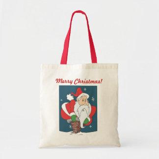 Santa besegrar lampglaset tygkasse