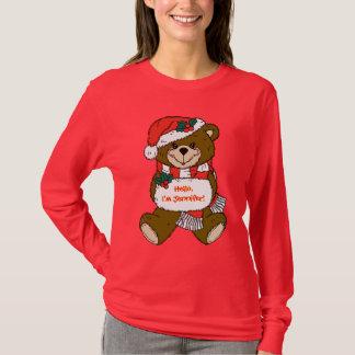 Santa björn med hatten och muffen tee
