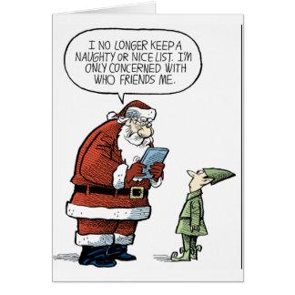 Santa Facebook Hälsningskort