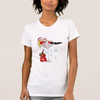 Santa flicka martini tee shirts