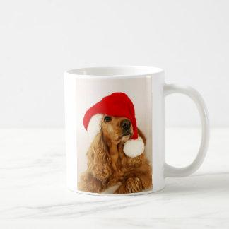 Santa för cockerspanielSpanieljul mugg