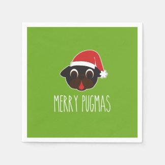 Santa för god julPugmas svart mops jul Pappersservetter