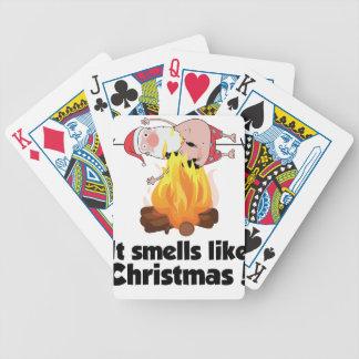 Santa för jul för Wellcoda lukter lik brännskada Spelkort