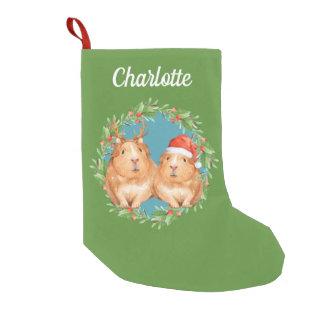 Santa för julförsökskaninpersonlig ren liten julstrumpa