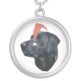 Santa för Labrador Retriever hatt Silverpläterat Halsband