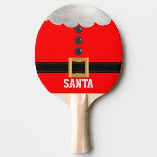 Santa för rolig röd jul paddlar den beställnings- pingisracket