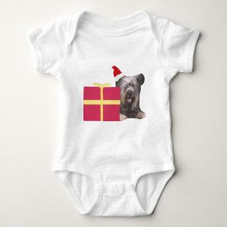 Santa för Skye Terrier hatt Tee Shirt
