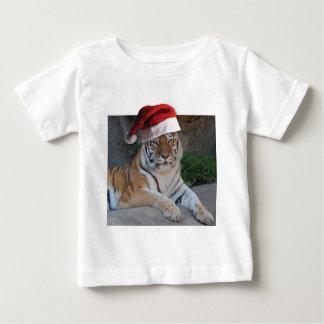 Santa hattBengal tiger T Shirt