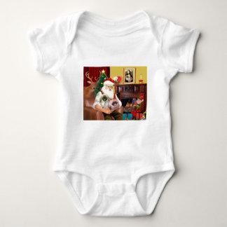 Santa hemma - Pekingese (R) - Santa T-shirt