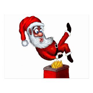 Santa hettända vykort