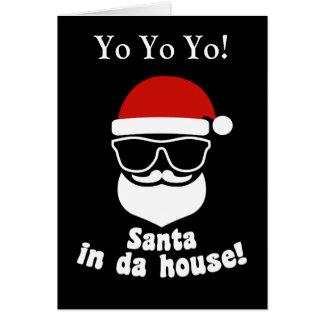 Santa i Da-hus Hälsningskort