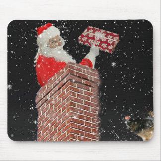 Santa i lampglasmousepden musmatta