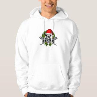 Santa Ironworkerskalle Hoodie