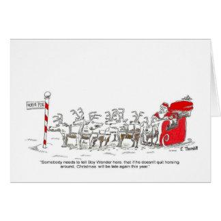 Santa julkort hälsningskort