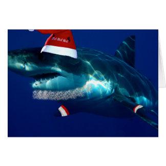Santa käkar hälsningskort