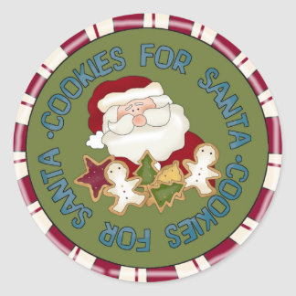 Santa kakor runt klistermärke