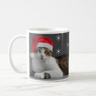 Santa kattmugg vit mugg